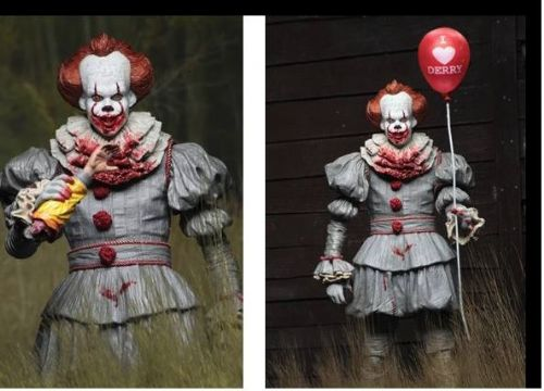 "IT 7"" SCALE ACTION FIGURE ULTIMATE ""I HEART DERRY"" PENNYWISE (2017 MOVIE)"